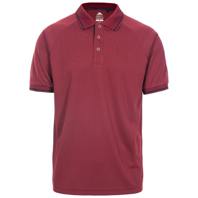 Bonington Men's Quick Dry Polo Shirt in Red
