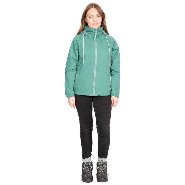 Trespass Womens Waterproof Jacket Boom in Green