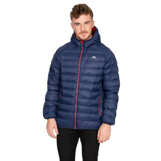 Bosten Men's Padded Casual Jacket in Navy