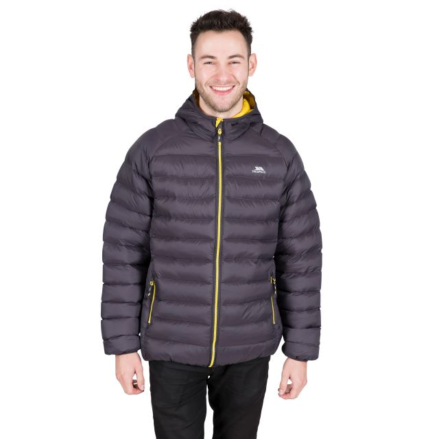 Bosten Men's Padded Casual Jacket in Grey