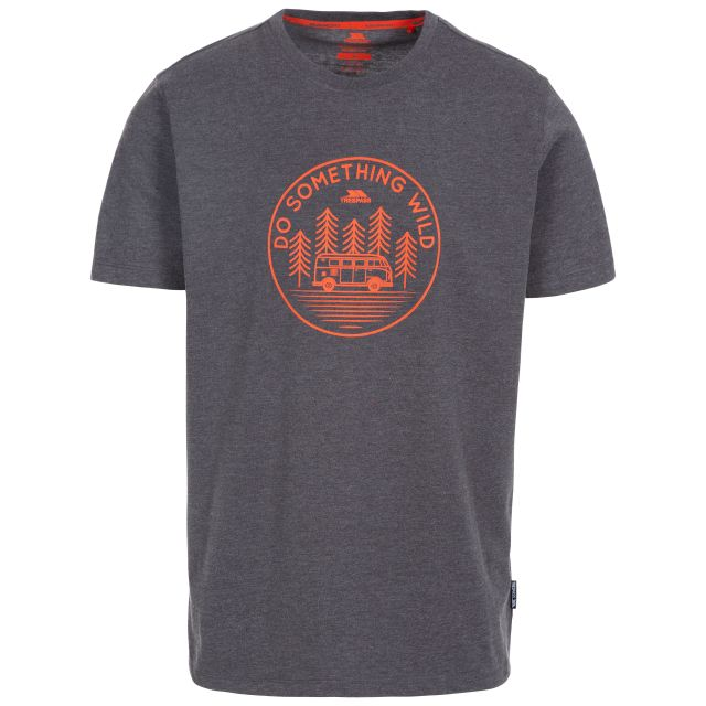 Bothesford Men's Printed T-Shirt in Grey