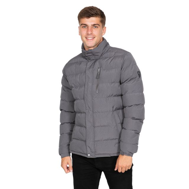 Boyce Men's Padded Jacket in Light Grey