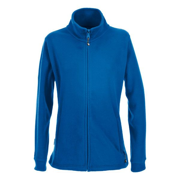 Boyero Women's Fleece in Blue, Front view on mannequin