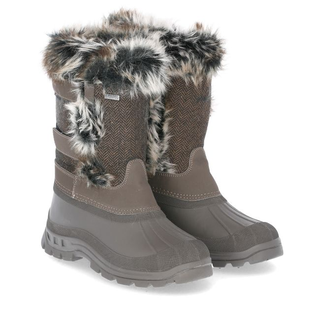 Brace Women's Waterproof Snow Boots in Khaki