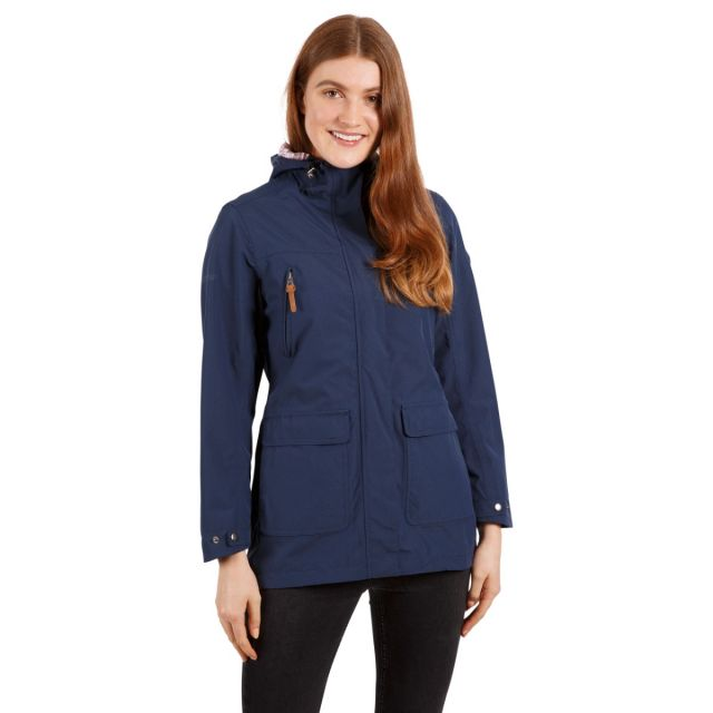 Trespass Women's Waterproof Shell Jacket Brampton Navy