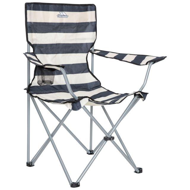 Trespass Folding Camping Chair Drinks Holder Branson Navy