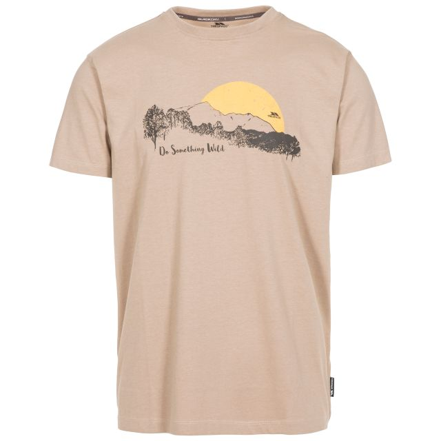Bredonton Men's Printed T-Shirt in Beige