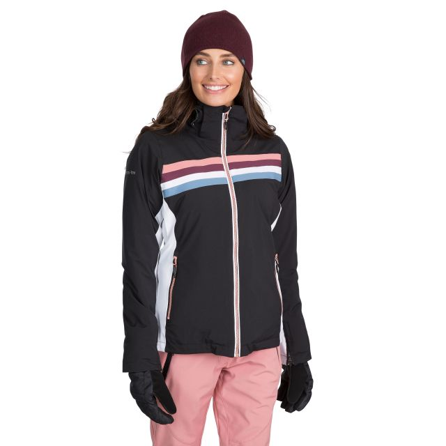 Trespass Womens Ski Jacket Waterproof Broadcast in Black