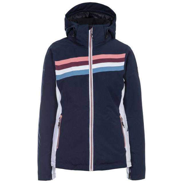 Trespass Womens Ski Jacket Waterproof Broadcast in Navy