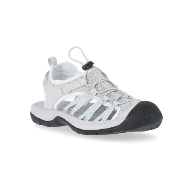 Brontie Women's Protective Drawstring Walking Sandals  in Light Grey