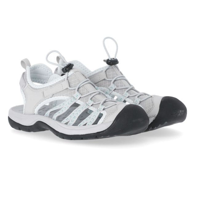 Brontie Women's Protective Drawstring Walking Sandals  in Light Grey
