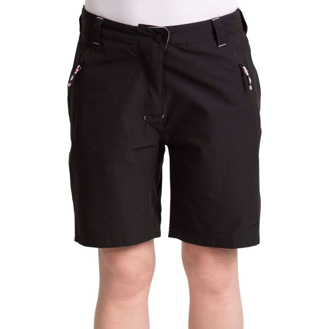 Brooksy Women's Quick Dry Active Shorts - BLK