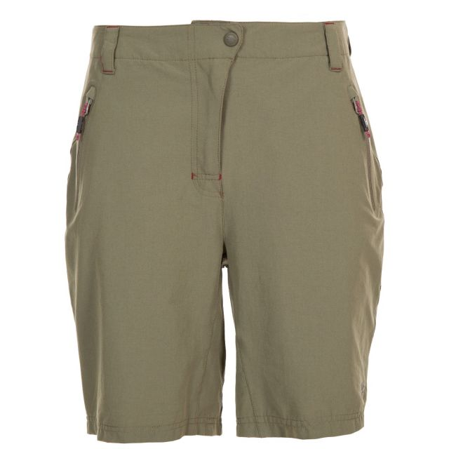 Brooksy Women's Quick Dry Active Shorts in Khaki
