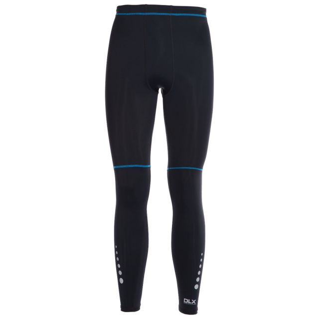 Brute Men's DLX Active Leggings in Black, Front view on mannequin