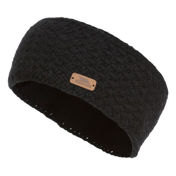 Bryony Women's Knitted Headband in Black