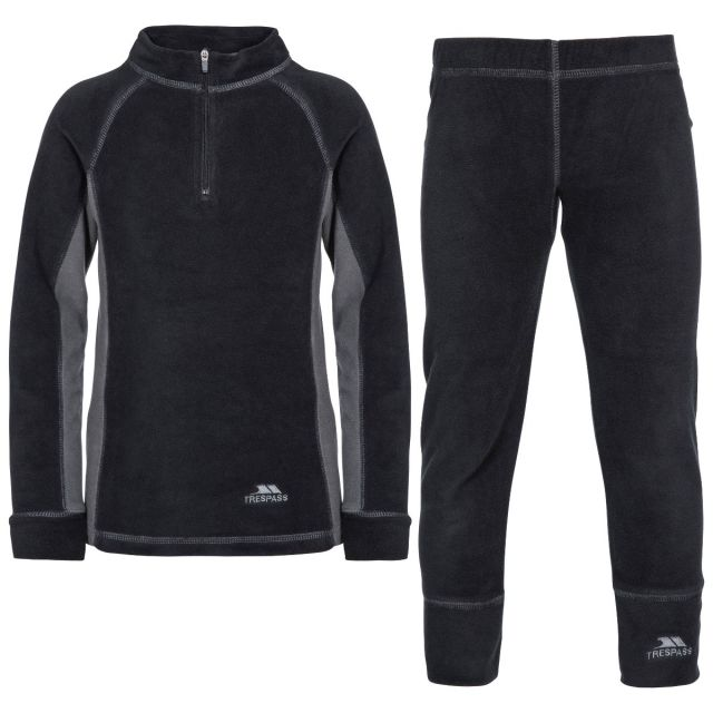 Bubbles Kids' Thermals in Black