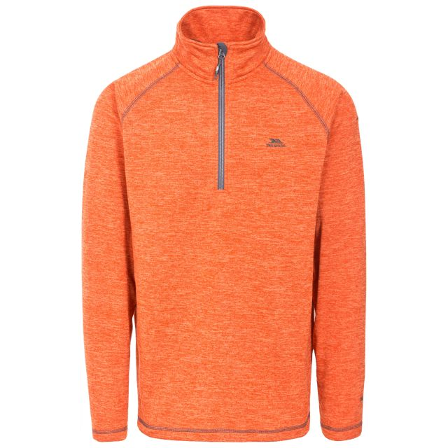 Bungy Men's 1/2 Zip Fleece in Orange