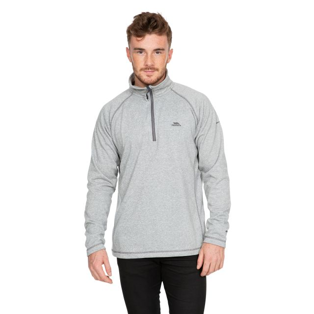 Bungy Men's 1/2 Zip Fleece in Light Grey