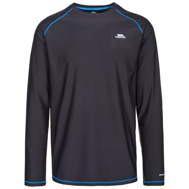 Burrows Men's Quick Dry Long Sleeve Active T-shirt in Black