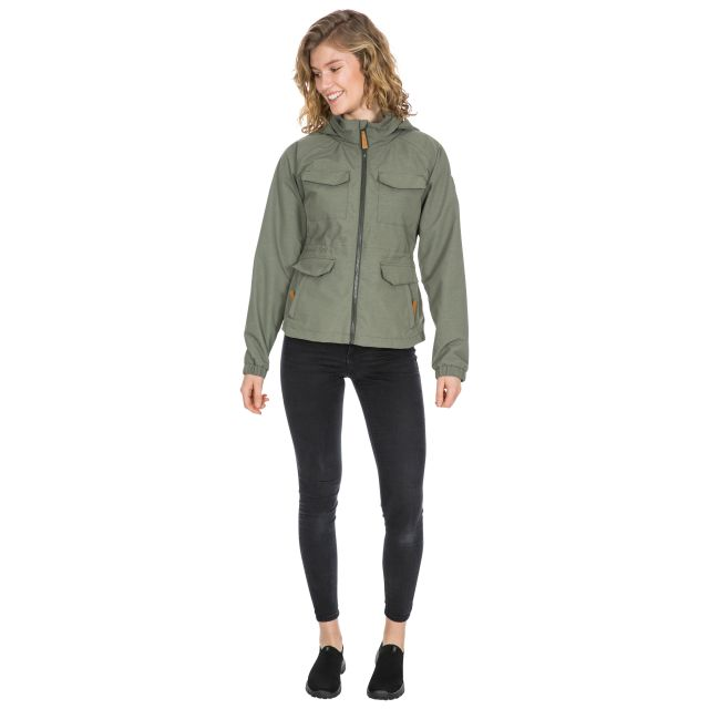 Trespass Womens Waterproof Jacket Busybee in Khaki