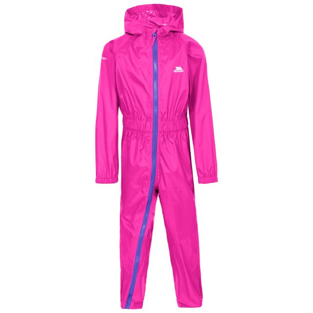 Button II Kids' Rain Suit in Pink