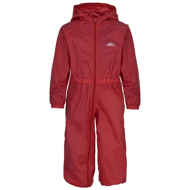 Button Babies' Rain Suit in Red
