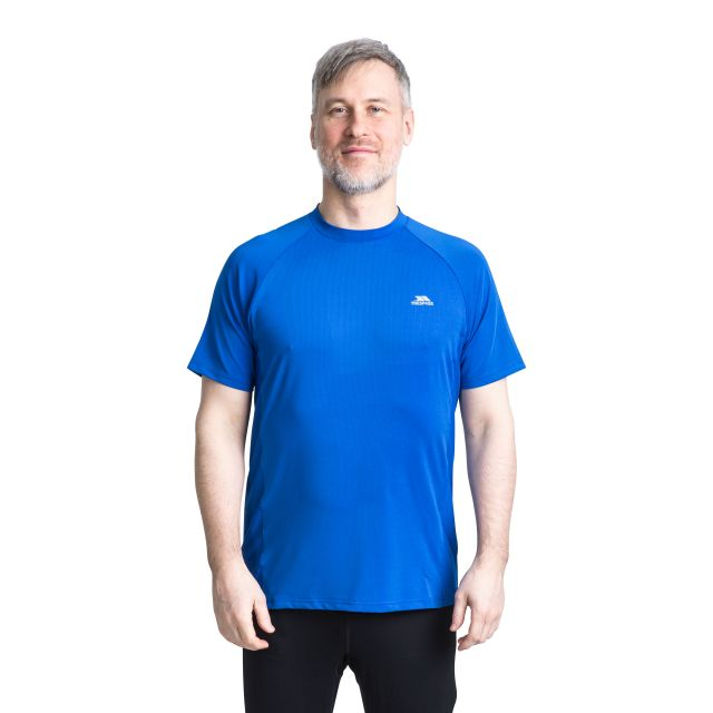 Cacama Men's Quick Dry Active T-Shirt in Blue