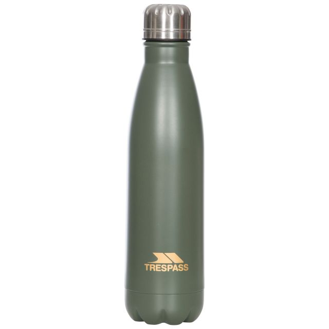 Insulated Stainless Steel Water Bottle 500ml in Khaki