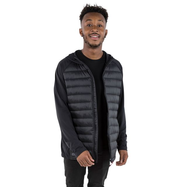 Cade Men's DLX Hooded Down Jacket in Black