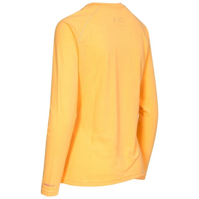 Cali Women's DLX Quick Dry Long Sleeve T-Shirt in Orange