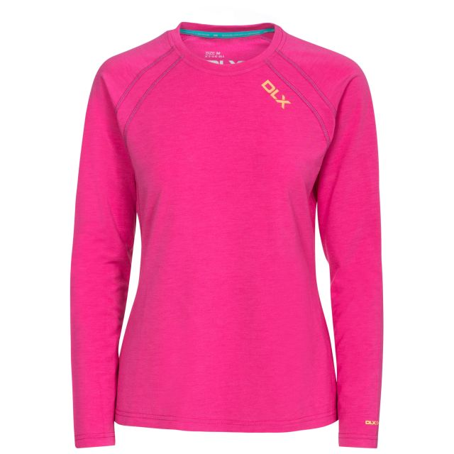 Cali Women's DLX Quick Dry Long Sleeve T-Shirt in Pink