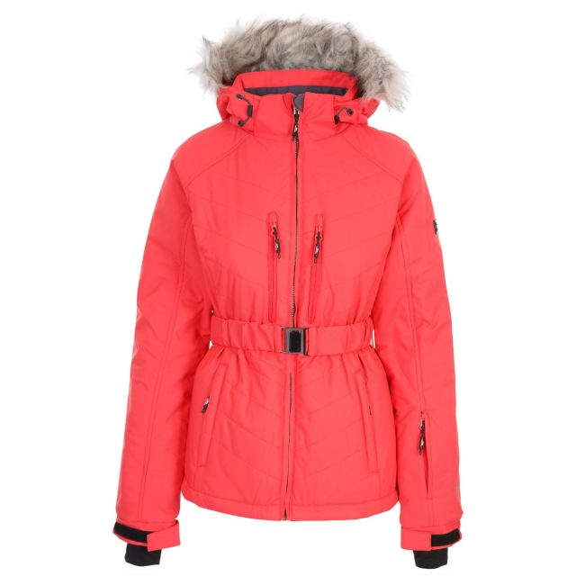 Trespass Womens Ski Jacket Waterproof Windproof Camila Hibiscus