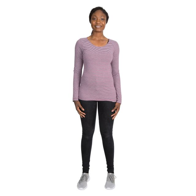 Caribou Women's Striped Long Sleeve T-Shirt in Purple