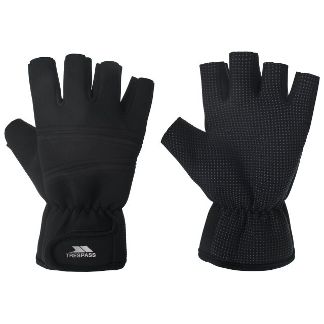 Carradale Adults' Fingerless Gloves in Black