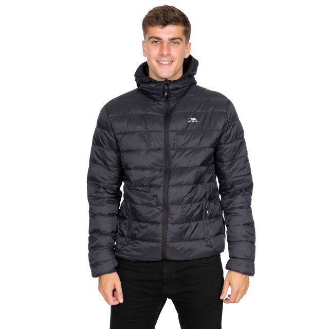 Carruthers Men's Padded Casual Jacket in Black