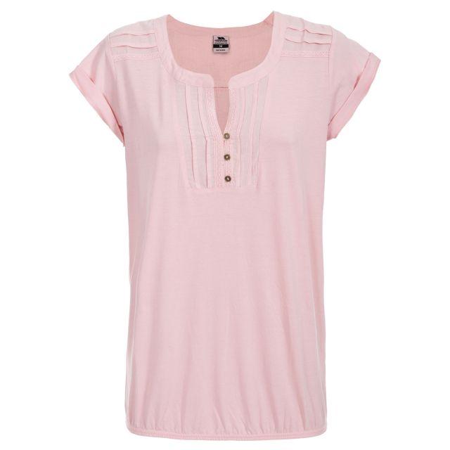 Casalla Women's Casual Cap Sleeved Top in Light Pink