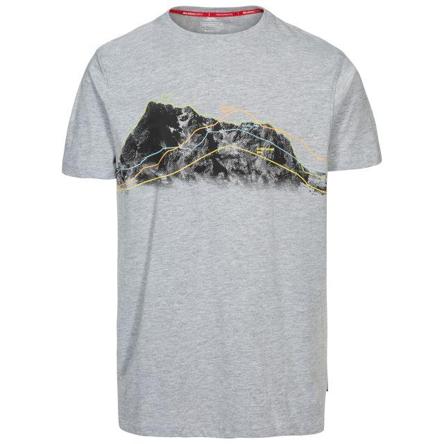 Cashing Men's Printed Casual T-Shirt in Light Grey