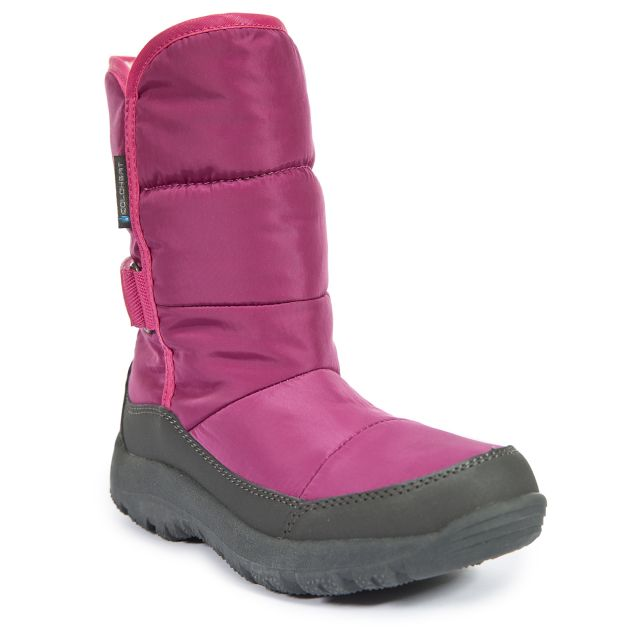 Cassia Girls Pull On Snow Boots in Pink