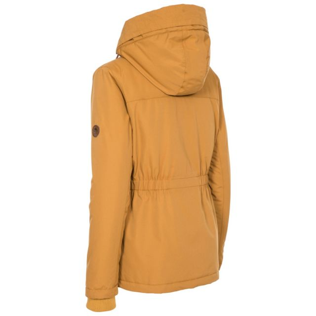 Trespass Womens Padded Jacket Fleece Lined Cassini Yellow