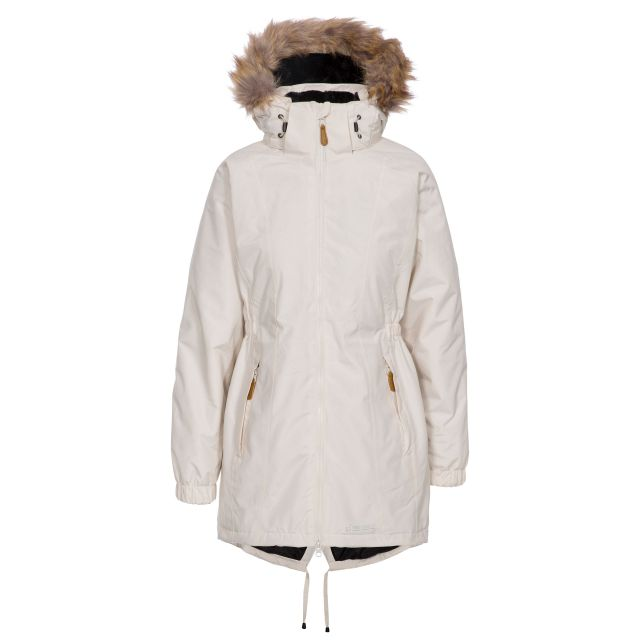 Celebrity Women's Fleece Lined Parka Jacket in Tan