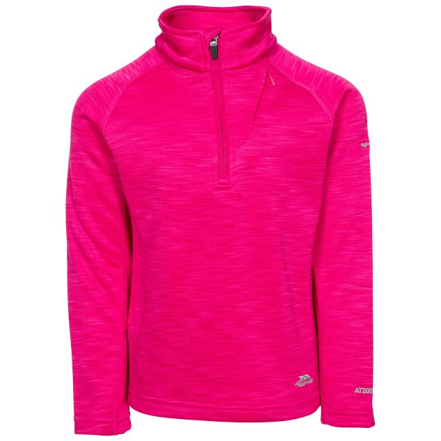 Celina Kids' Half Zip Fleece in Pink