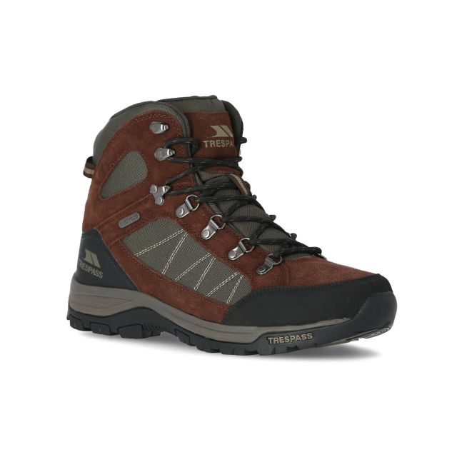 Chavez Men's Waterproof Walking Boots in Brown
