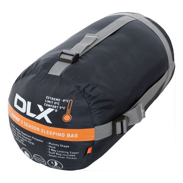 Chief DLX 3 Season Down Sleeping Bag in Orange