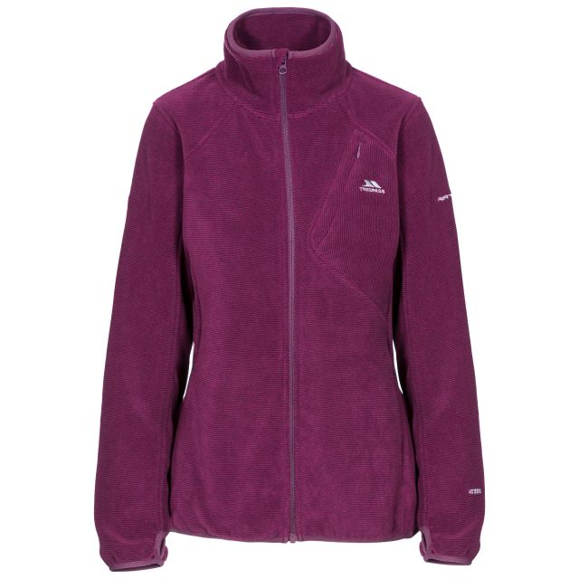 Ciaran Women's Ribbed Fleece in Purple