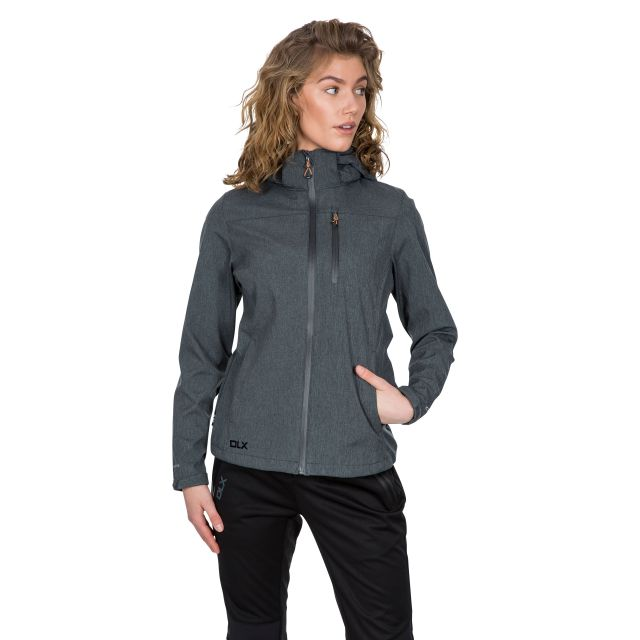 Claren II Women's DLX Softshell Jacket in Grey