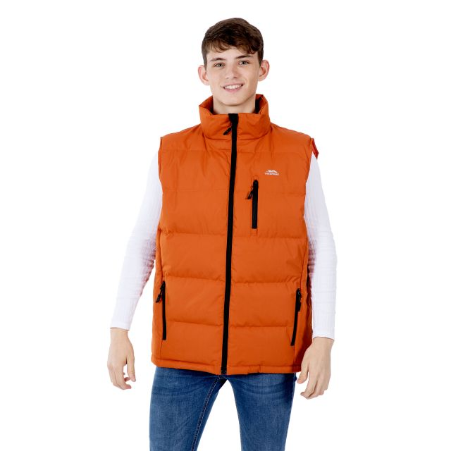 Clasp Men's Padded Gilet in Orange