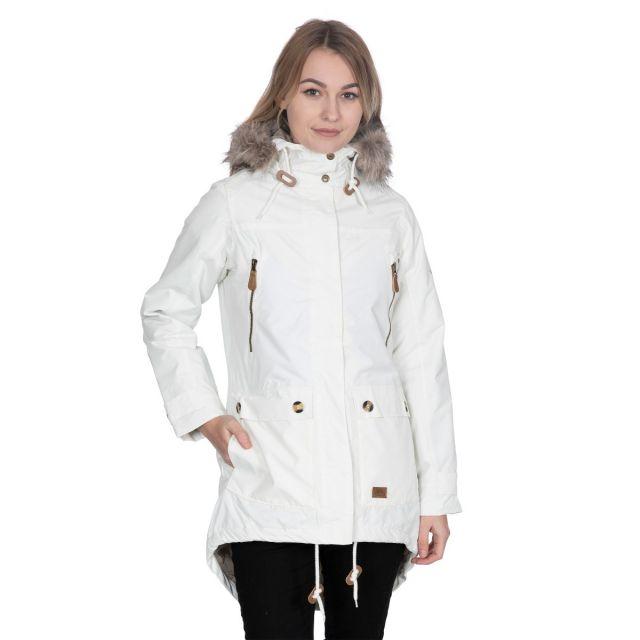 Clea B - Womens Waterproof Parka Padded Jacket in White