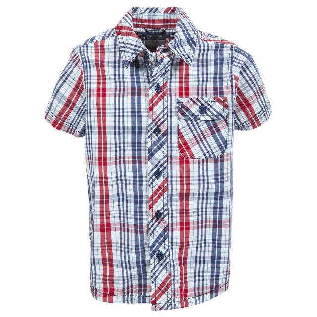 CLIFFORD Boys Check Shirt in Navy
