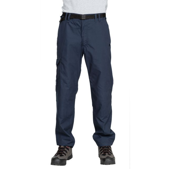 Clifton Men's Cargo Trousers in Navy