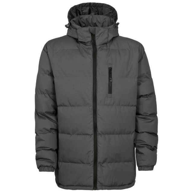 Clip Men's Hooded Padded Casual Jacket in Grey